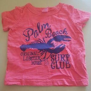 Carter's Pink Palm Beach Tee